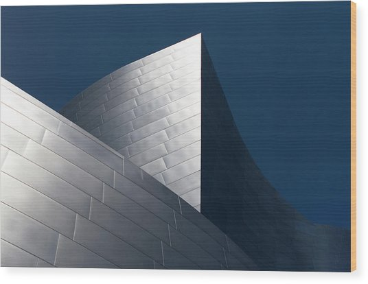 Wood Print featuring the photograph The Geometry Of Disney Hall by Lorraine Devon Wilke