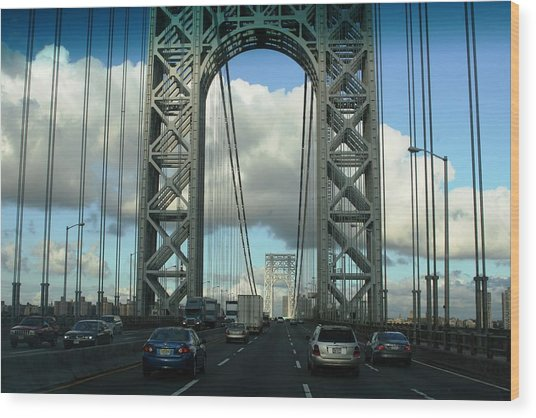 The George Washington Bridge  Wood Print by Paul SEQUENCE Ferguson             sequence dot net