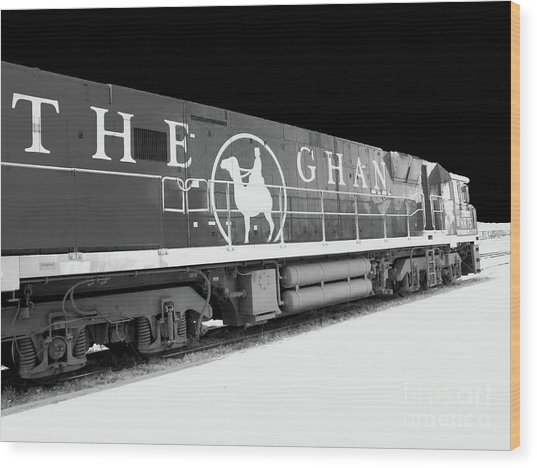 The Ghan Bw Wood Print