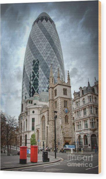The Gherkin Wood Print by Donald Davis