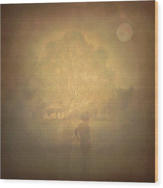 The Ghost Turns Away Wood Print
