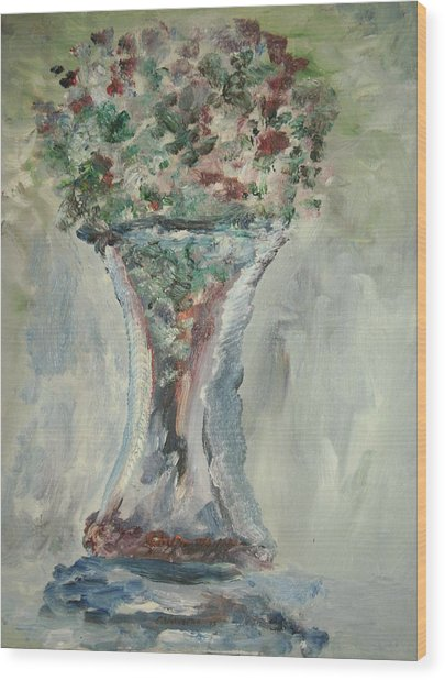 The Giant Goblet Vase Wood Print by Edward Wolverton