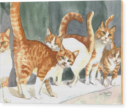 The Ginger Gang Wood Print