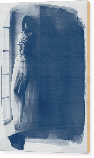 The Girl At The Window. Wood Print