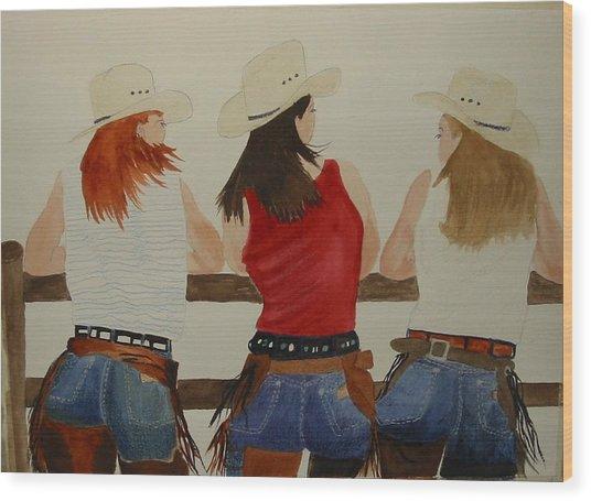 The Girls Wood Print