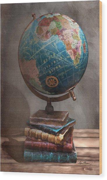 The Globe Wood Print