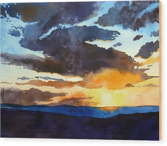 The Glory Of The Sunset Wood Print