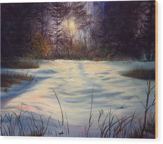 The Glow Of Winter Wood Print by Tommy  Winn