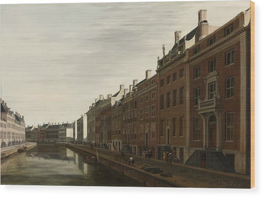 The Golden Bend In The Herengracht, Amsterdam, Seen From The West, 1672 Wood Print