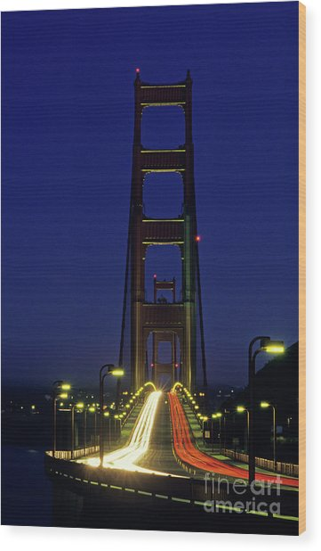 The Golden Gate Bridge Twilight Wood Print