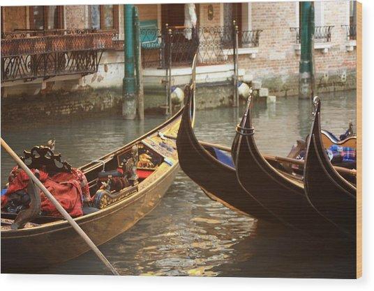 The Golden Gondola Wood Print by Michael Henderson