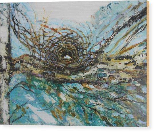 The Golden Nest Wood Print