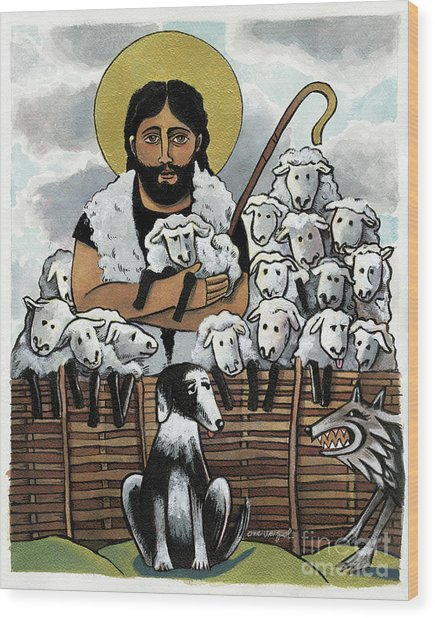 The Good Shepherd - Mmgoh Wood Print