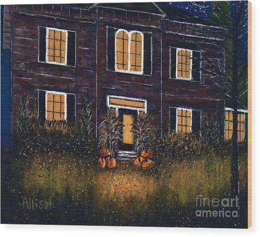 The Good Witch Grey House Wood Print