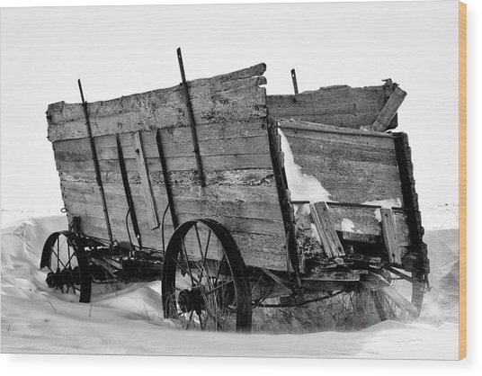 The Grain Wagon Wood Print