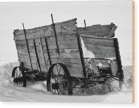The Grain Wagon Wood Print