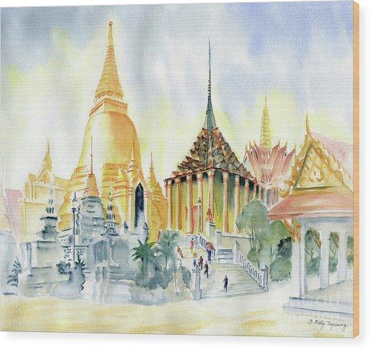 The Grand Palace Bangkok Wood Print