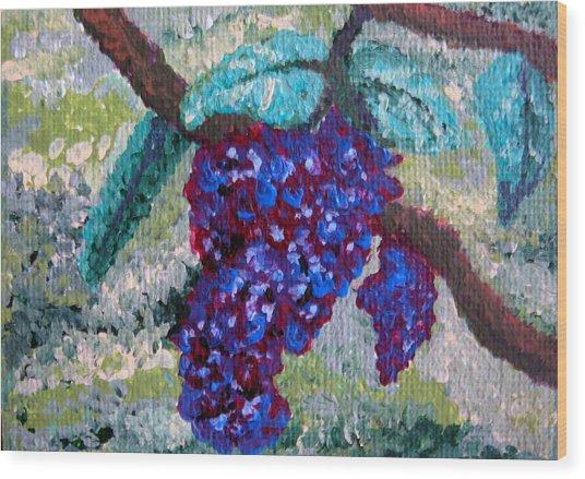 The Grapevine Wood Print by Deborah Rosier