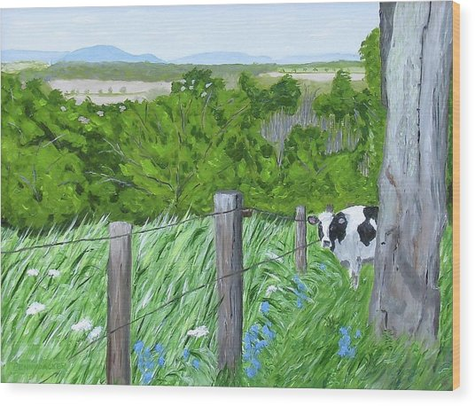 'the Grass Sings In The Meadow' Wood Print