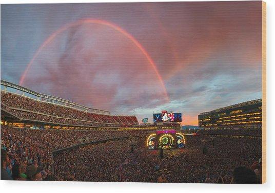 The Grateful Dead Rainbow Of Santa Clara, California Wood Print
