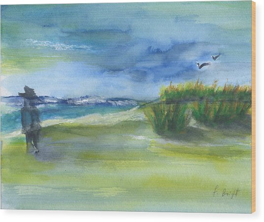 The Gray Man Visits Pawleys Island Sc Wood Print