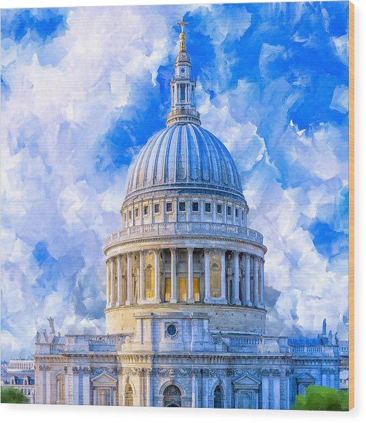 The Great Dome - St Paul's Cathedral Wood Print