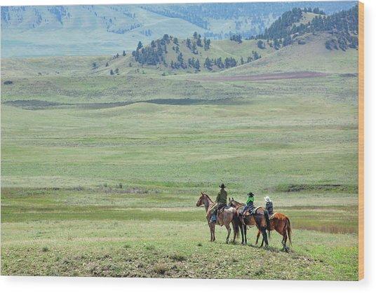 The Great Montana Expanse Wood Print