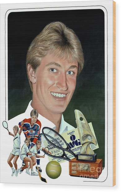 The Great One - Oiler Days Wood Print by Michael Swanson