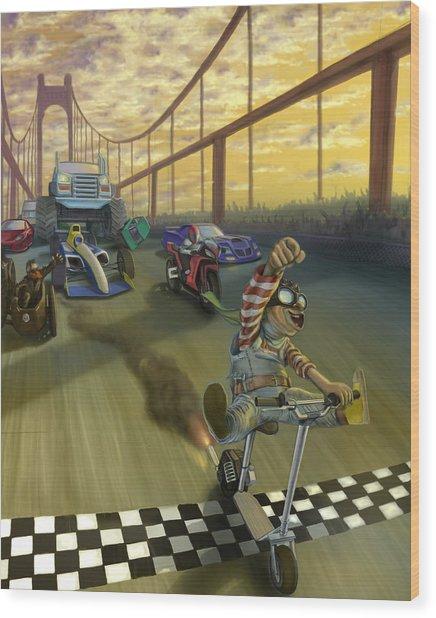 The Great Race Wood Print by Nicholas Bockelman