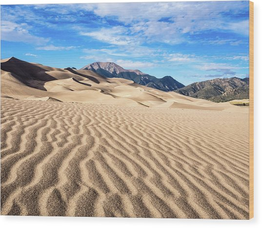 The Great Sand Dunes Of Colorado Wood Print