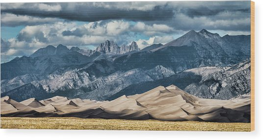 The Great Sand Dunes Panorama Wood Print