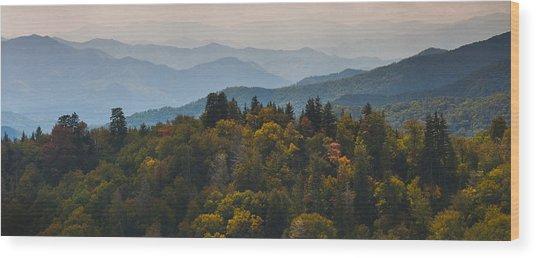 The Great Smokey Mountains Wood Print