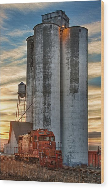 The Great Western Sugar Mill Longmont Colorado Wood Print