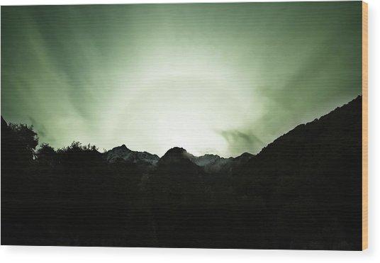 The Green Dream Wood Print
