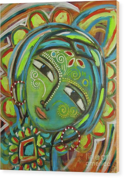 The Green Goddess  Wood Print