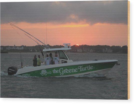 The Greene Turtle Power Boat Wood Print