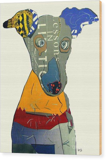 The Greyhound Dog Wood Print