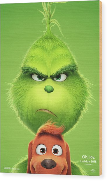 The Grinch 2018 A Wood Print
