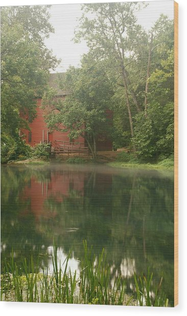 The Grist Mill At Alley Springs Take 3 Wood Print