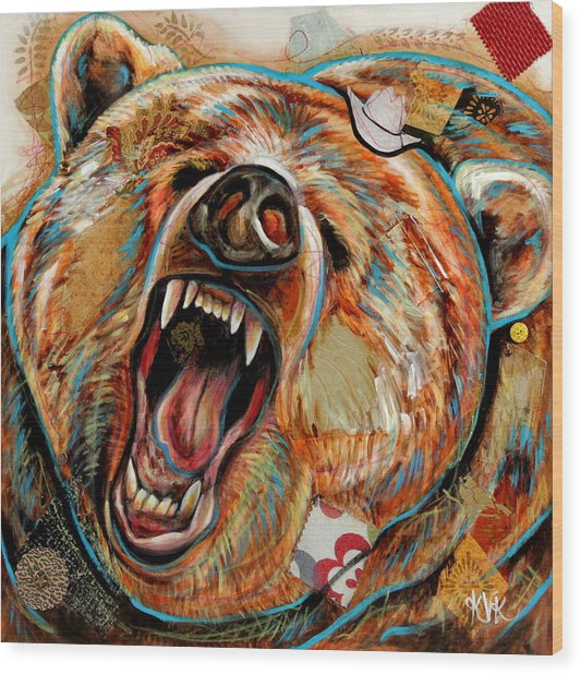 The Grizzly Bear Wood Print