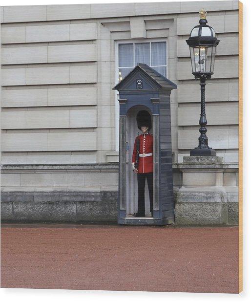 The Guard At Buckingham Palace Wood Print