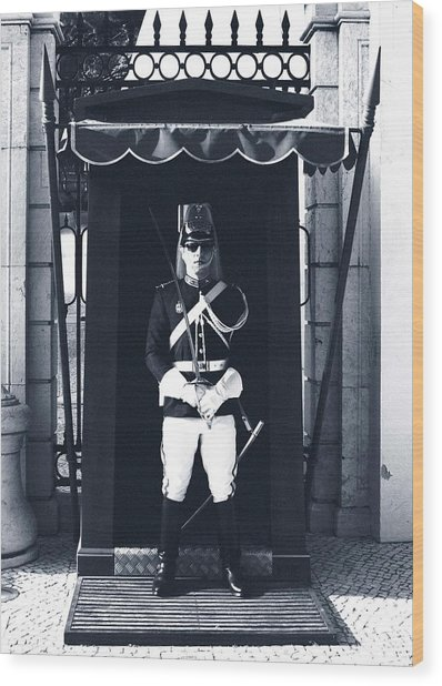Wood Print featuring the photograph The Guard At The Palace by Lorraine Devon Wilke