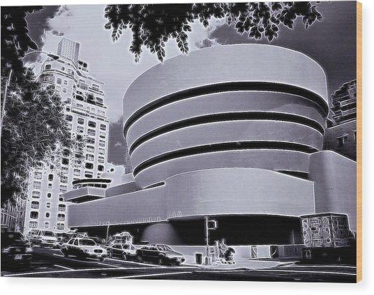 The Guggenheim Black And White Wood Print