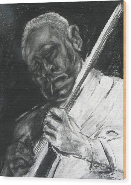 The Guitar Player Wood Print by Patrick Mills