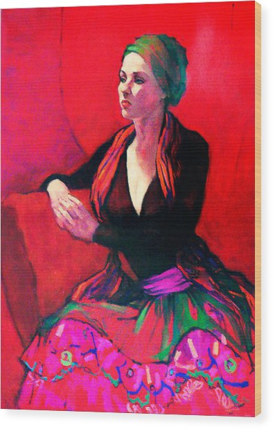 The Gypsy Skirt Wood Print by Roz McQuillan