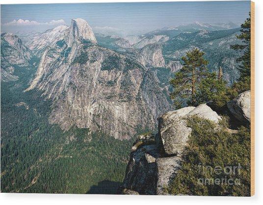 The Half Dome Yosemite Np Wood Print