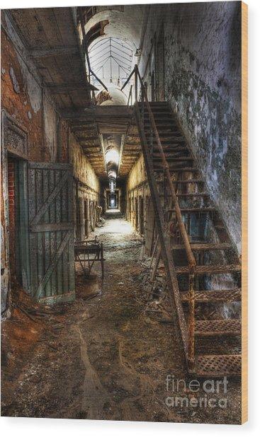 The Hallway Of Broken Dreams - Eastern State Penitentiary - Lee Dos Santos Wood Print