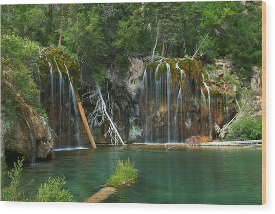 The Hanging Lake Wood Print