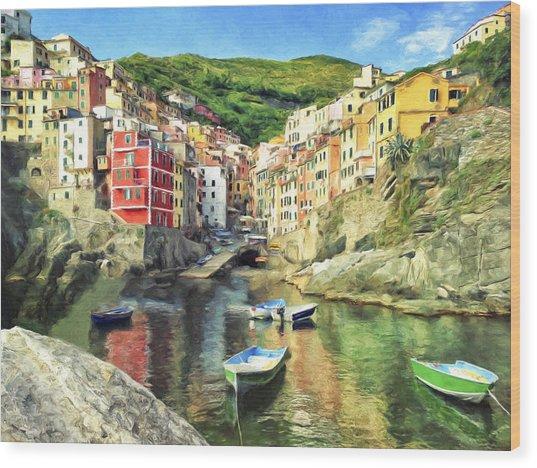 The Harbor At Rio Maggiore Wood Print