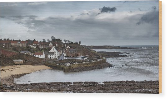 The Harbour Of Crail Wood Print